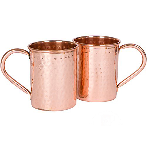 copper moscow mule mug hammered set of 2 - Mule Mug