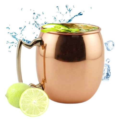 copper moscow mule mug with brass handle - Mule Mug