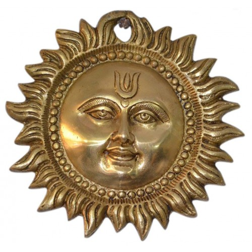 decor wall home indian metal inch hanging sun brass plaque